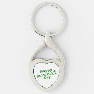 Happy St. Patrick´s Day Typographic Design Keychain