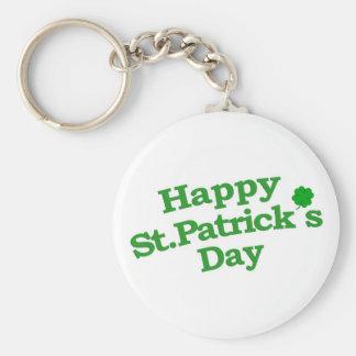 Happy St. Patrick´s Day Typographic Design Basic Round Button Keychain