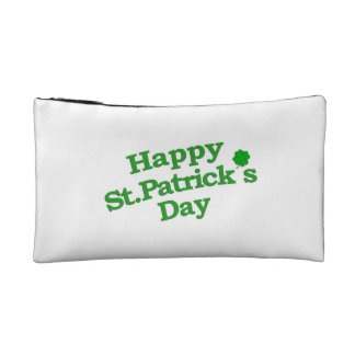 Happy St. Patrick´s Day Typographic Design Makeup Bag