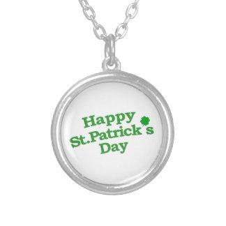 Happy St. Patrick´s Day Typographic Design Pendant