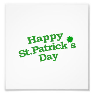 Happy St. Patrick´s Day Typographic Design Photo Print