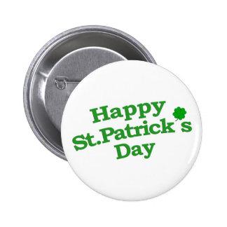 Happy St. Patrick´s Day Typographic Design Pinback Button