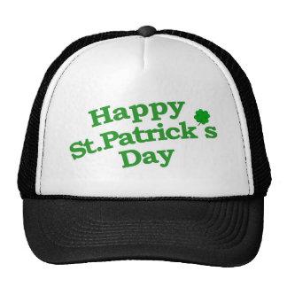 Happy St. Patrick´s Day Typographic Design Trucker Hat
