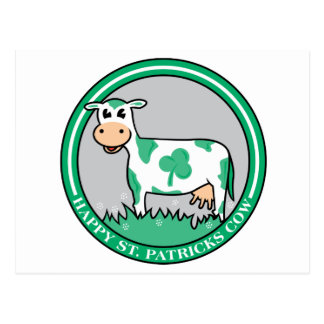 Happy St Patrick's Cow Postcard
