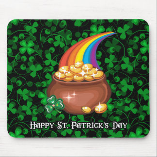 Happy St. Patrick's Day 1 Mousepad Options