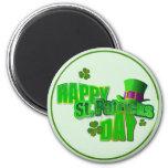 Happy St. Patrick's Day 2 Inch Round Magnet