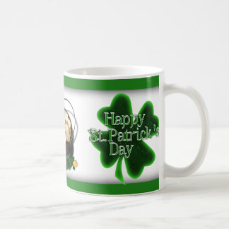 Happy St. Patrick's Day 4 Leaf Clovers Coffee Mug