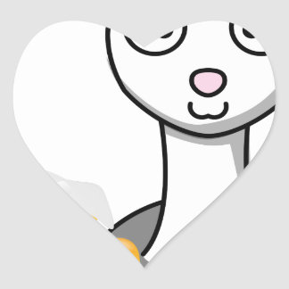 happy st patricks day alpaca heart sticker