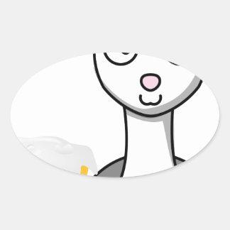 happy st patricks day alpaca oval sticker