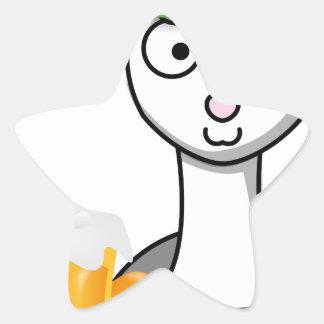 happy st patricks day alpaca star sticker