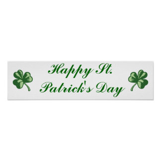 Happy St. Patrick's Day Banner Poster