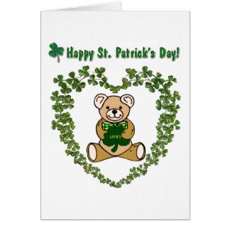 Happy St. Patrick's Day Bear Card