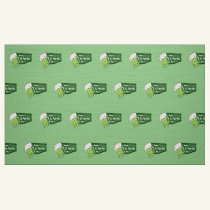 Happy St. Patricks Day Beer Fabric