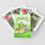 Happy St Patricks Day birds Bicycle Playing Cards