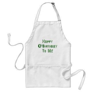 Happy St Patricks Day Birthday to Me Adult Apron