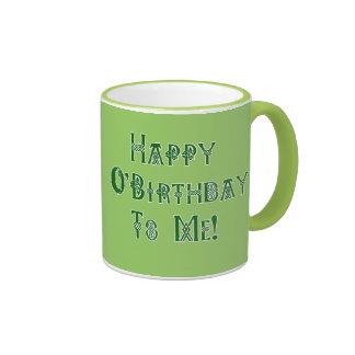 Happy St Patricks Day Birthday to Me Ringer Coffee Mug
