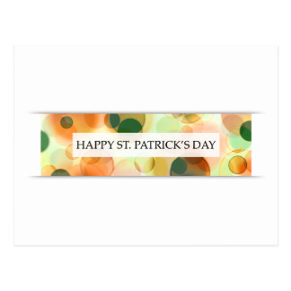 happy st patricks day (bokeh) postcard