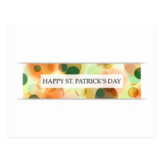 happy st patricks day (bokeh) postcard