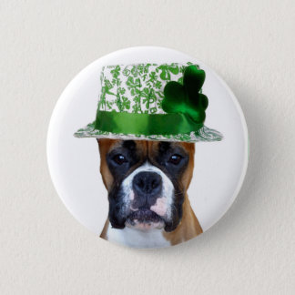 Happy St. Patrick's Day Boxer button