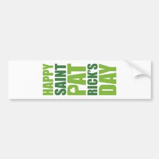 Happy St. Patrick's Day Car Bumper Sticker