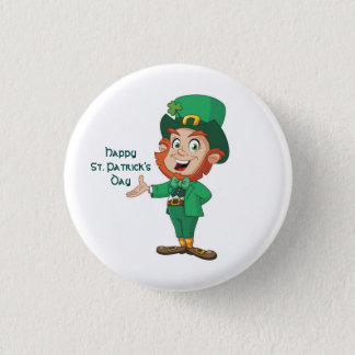 Happy St. Patrick's Day Button