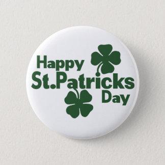 Happy St Patricks day Button
