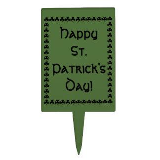 Happy St. Patrick's Day Cake Topper Pick