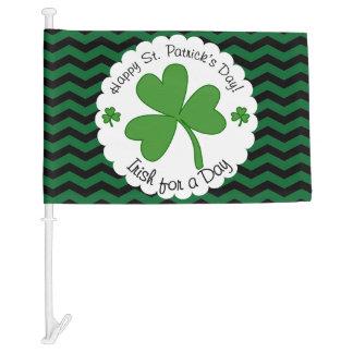 Happy St. Patrick's Day Car Flag