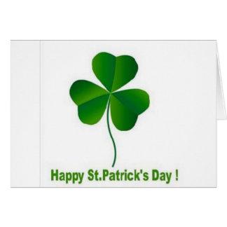 Happy st patricks day card