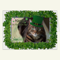 Happy St Patrick's Day Cat Card