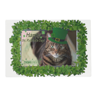 Happy St Patrick's Day Cat Placemat