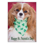 Happy St. Patrick's Day Cavalier King Charles Pup Greeting Card