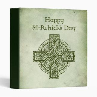 Happy St Patrick's Day.Celtic cross Binder