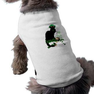 Happy St Patrick's Day Chat Noir Pet Tee