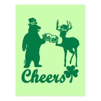 Happy St Patricks Day Cheers! Postcard