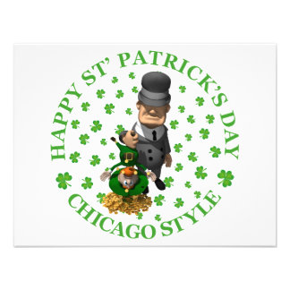 HAPPY ST PATRICK'S DAY - CHICAGO STYLE PERSONALIZED INVITATION