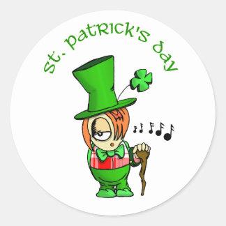 Happy St Patrick's Day Classic Round Sticker