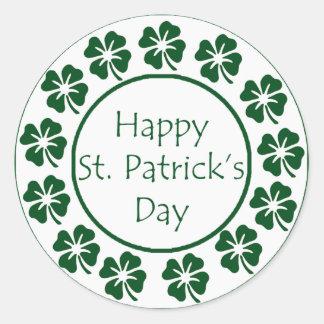 Happy St Patricks Day Classic Round Sticker