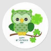 Happy St. Patrick's Day Classic Round Sticker
