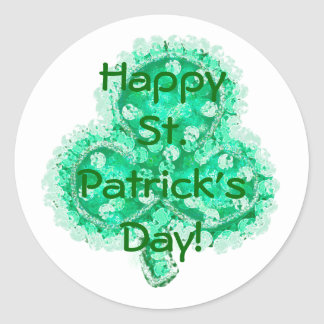 Happy St. Patrick's Day! Classic Round Sticker