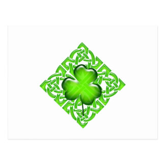 Happy St. Patrick's Day Clover Gift Postcard