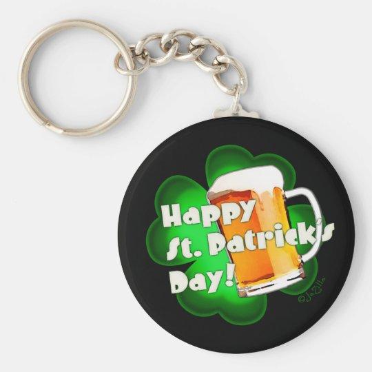 Happy St. Patrick's Day Clover & Mug Keychain