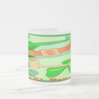 Happy St Patrick's Day Collage 10 Oz Frosted Glass Coffee Mug