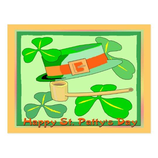 Happy St Patrick's Day Collage Postcard