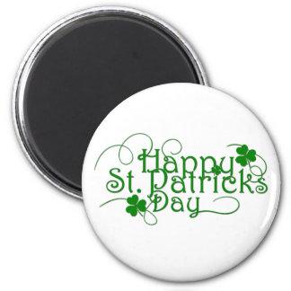 Happy St Patricks Day Cursive Magnet