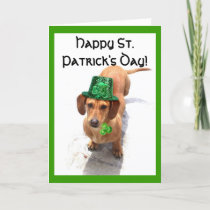Happy St. Patrick's Day  Dachshund greeting card