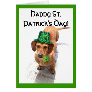 Happy St. Patrick's Day  Dachshund greeting card