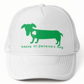 Happy St. Patrick's Day Dachshund hat