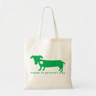 Happy St. Patrick's Day Dachshund Tote Bag