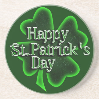 Happy St. Patrick's Day Drink Coaster